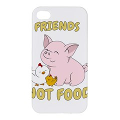 Friends Not Food   Cute Pig And Chicken Apple Iphone 4/4s Premium Hardshell Case by Valentinaart