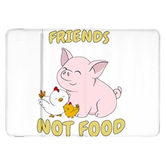Friends Not Food   Cute Pig And Chicken Samsung Galaxy Tab 8 9  P7300 Flip Case by Valentinaart