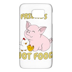 Friends Not Food   Cute Pig And Chicken Galaxy S6 by Valentinaart