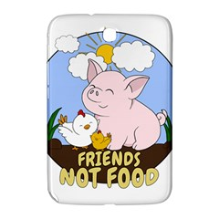 Friends Not Food   Cute Pig And Chicken Samsung Galaxy Note 8 0 N5100 Hardshell Case