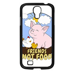 Friends Not Food   Cute Pig And Chicken Samsung Galaxy S4 I9500/ I9505 Case (black) by Valentinaart