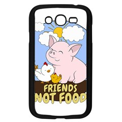 Friends Not Food - Cute Pig And Chicken Samsung Galaxy Grand Duos I9082 Case (black) by Valentinaart
