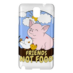 Friends Not Food   Cute Pig And Chicken Samsung Galaxy Note 3 N9005 Hardshell Case by Valentinaart
