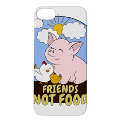 Friends Not Food   Cute Pig And Chicken Apple Iphone 5s/ Se Hardshell Case by Valentinaart