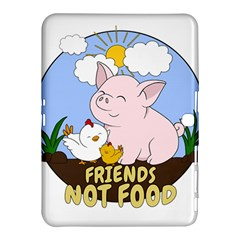 Friends Not Food   Cute Pig And Chicken Samsung Galaxy Tab 4 (10 1 ) Hardshell Case  by Valentinaart