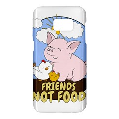 Friends Not Food   Cute Pig And Chicken Samsung Galaxy S7 Hardshell Case