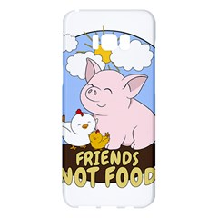 Friends Not Food   Cute Pig And Chicken Samsung Galaxy S8 Plus Hardshell Case