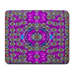 Spring Time In Colors And Decorative Fantasy Bloom Large Mousepads by pepitasart