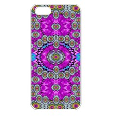 Spring Time In Colors And Decorative Fantasy Bloom Apple Iphone 5 Seamless Case (white) by pepitasart