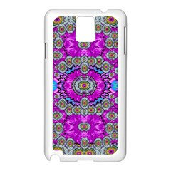 Spring Time In Colors And Decorative Fantasy Bloom Samsung Galaxy Note 3 N9005 Case (white) by pepitasart
