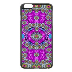 Spring Time In Colors And Decorative Fantasy Bloom Apple Iphone 6 Plus/6s Plus Black Enamel Case by pepitasart