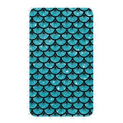 Scales3 Black Marble & Turquoise Glitter Memory Card Reader by trendistuff