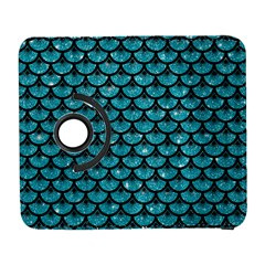 Scales3 Black Marble & Turquoise Glitter Galaxy S3 (flip/folio) by trendistuff
