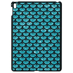 Scales3 Black Marble & Turquoise Glitter Apple Ipad Pro 9 7   Black Seamless Case by trendistuff
