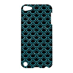 Scales2 Black Marble & Turquoise Glitter (r) Apple Ipod Touch 5 Hardshell Case by trendistuff