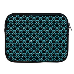 Scales2 Black Marble & Turquoise Glitter (r) Apple Ipad 2/3/4 Zipper Cases by trendistuff