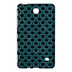 Scales2 Black Marble & Turquoise Glitter (r) Samsung Galaxy Tab 4 (8 ) Hardshell Case  by trendistuff