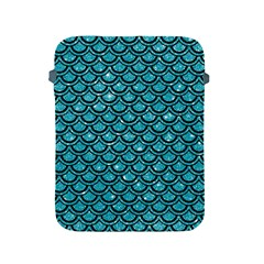 Scales2 Black Marble & Turquoise Glitter Apple Ipad 2/3/4 Protective Soft Cases by trendistuff