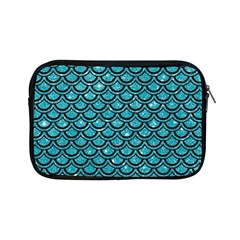 Scales2 Black Marble & Turquoise Glitter Apple Ipad Mini Zipper Cases by trendistuff