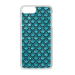 Scales2 Black Marble & Turquoise Glitter Apple Iphone 7 Plus Seamless Case (white) by trendistuff