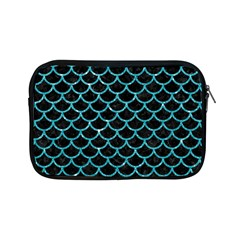 Scales1 Black Marble & Turquoise Glitter (r) Apple Ipad Mini Zipper Cases by trendistuff