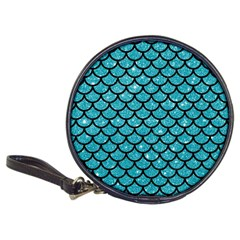 Scales1 Black Marble & Turquoise Glitter Classic 20 Cd Wallets by trendistuff
