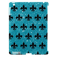 Royal1 Black Marble & Turquoise Glitter (r) Apple Ipad 3/4 Hardshell Case (compatible With Smart Cover) by trendistuff