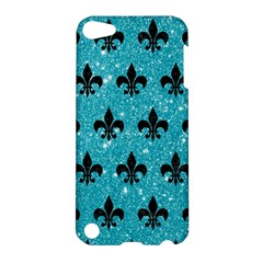 Royal1 Black Marble & Turquoise Glitter (r) Apple Ipod Touch 5 Hardshell Case by trendistuff