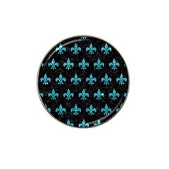 Royal1 Black Marble & Turquoise Glitter Hat Clip Ball Marker (10 Pack) by trendistuff