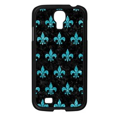 Royal1 Black Marble & Turquoise Glitter Samsung Galaxy S4 I9500/ I9505 Case (black) by trendistuff