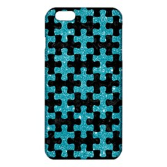 Puzzle1 Black Marble & Turquoise Glitter Iphone 6 Plus/6s Plus Tpu Case