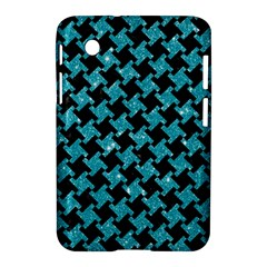 Houndstooth2 Black Marble & Turquoise Glitter Samsung Galaxy Tab 2 (7 ) P3100 Hardshell Case  by trendistuff