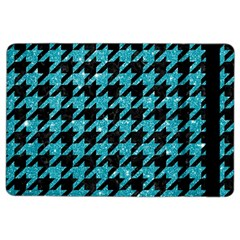 Houndstooth1 Black Marble & Turquoise Glitter Ipad Air 2 Flip by trendistuff