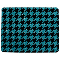 Houndstooth1 Black Marble & Turquoise Glitter Jigsaw Puzzle Photo Stand (rectangular) by trendistuff