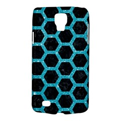 Hexagon2 Black Marble & Turquoise Glitter (r) Galaxy S4 Active