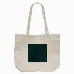 Hexagon1 Black Marble & Turquoise Glitter (r) Tote Bag (cream) by trendistuff