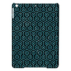 Hexagon1 Black Marble & Turquoise Glitter (r) Ipad Air Hardshell Cases by trendistuff
