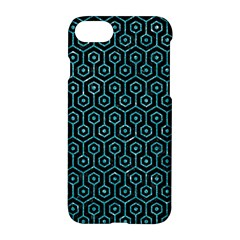 Hexagon1 Black Marble & Turquoise Glitter (r) Apple Iphone 7 Hardshell Case by trendistuff
