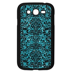 Damask2 Black Marble & Turquoise Glitter Samsung Galaxy Grand Duos I9082 Case (black) by trendistuff