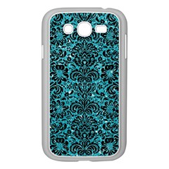 Damask2 Black Marble & Turquoise Glitter Samsung Galaxy Grand Duos I9082 Case (white) by trendistuff
