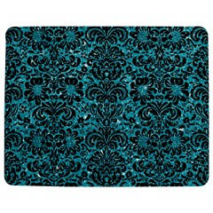 Damask2 Black Marble & Turquoise Glitter Jigsaw Puzzle Photo Stand (rectangular) by trendistuff