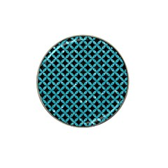 Circles3 Black Marble & Turquoise Glitter (r) Hat Clip Ball Marker by trendistuff