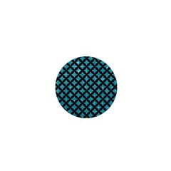 Circles3 Black Marble & Turquoise Glitter 1  Mini Buttons by trendistuff