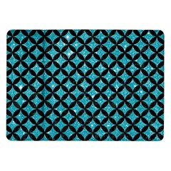 Circles3 Black Marble & Turquoise Glitter Samsung Galaxy Tab 10 1  P7500 Flip Case by trendistuff