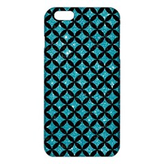 Circles3 Black Marble & Turquoise Glitter Iphone 6 Plus/6s Plus Tpu Case