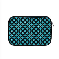 Circles3 Black Marble & Turquoise Glitter Apple Macbook Pro 15  Zipper Case by trendistuff