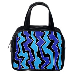 Vertical Blues Polynoise Classic Handbags (one Side) by jumpercat