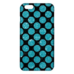 Circles2 Black Marble & Turquoise Glitter (r) Iphone 6 Plus/6s Plus Tpu Case