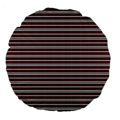 Indian Stripes Large 18  Premium Round Cushions by jumpercat