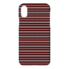 Indian Stripes Apple Iphone X Hardshell Case by jumpercat